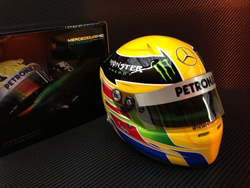 f1 miniature mercedes casque lewis hamilton 2013 mini helmet 1 2. Black Bedroom Furniture Sets. Home Design Ideas
