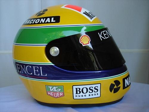 f1 casque ayrton senna 1993 minichamps 1 8 540384308. Black Bedroom Furniture Sets. Home Design Ideas
