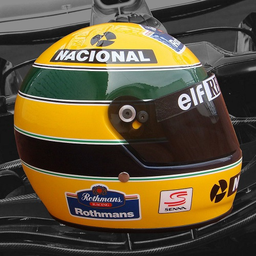 williams renault r plique casque ayrton senna 1994. Black Bedroom Furniture Sets. Home Design Ideas