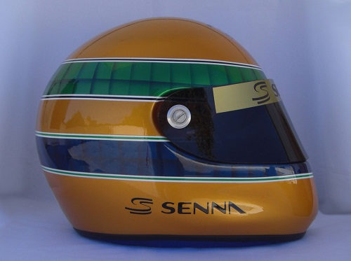 r plique casque ayrton senna sp cial 50e anniversaire. Black Bedroom Furniture Sets. Home Design Ideas